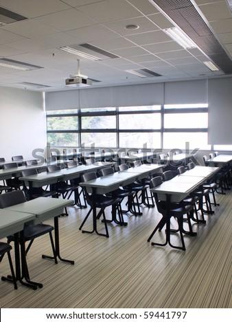 Classroom in campus of university - stock photo