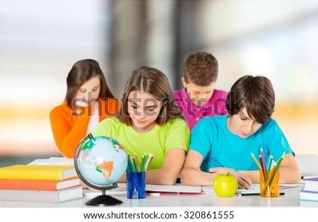 Classroom student. - stock photo