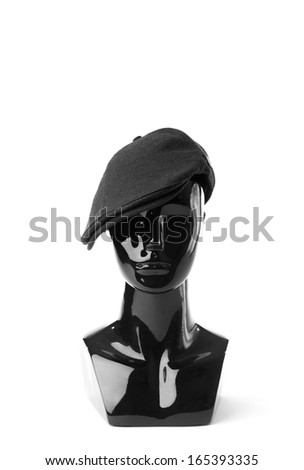 Classy black male mannequin isolated on white background - stock photo