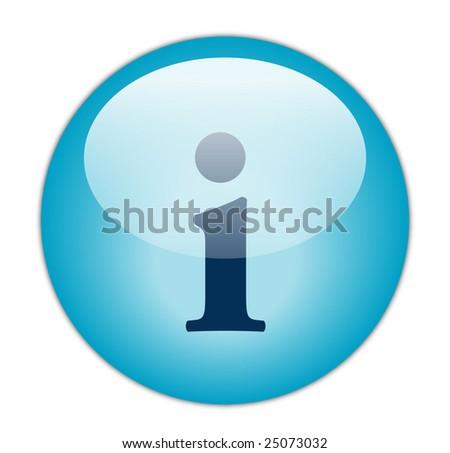 Classy Blue Information Icon - stock photo