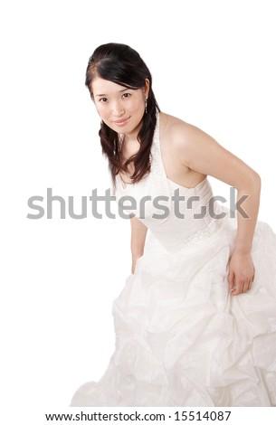 classy bride portrait - stock photo