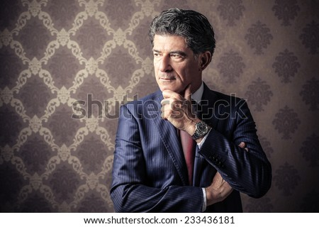 Classy businessman posing  - stock photo