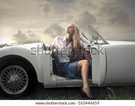 Classy Driver - stock photo