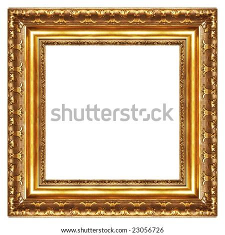 classy gilded frame -square shape - stock photo