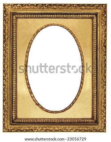 classy golden frame - stock photo