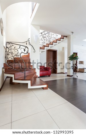 Classy house - interior of modern classic house - stock photo