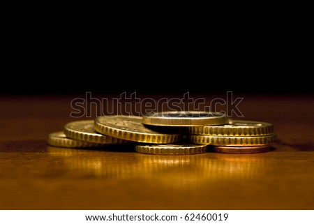 Classy shot of some euro coins - stock photo