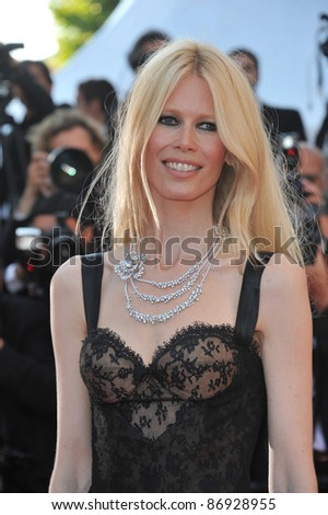 "Claudia Schiffer at the premiere of ""This Must Be The Place"" in competition at the 64th Festival de Cannes. May 20, 2011  Cannes, France Picture: Paul Smith / Featureflash"