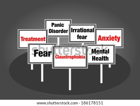 Claustrophobia signs - stock photo