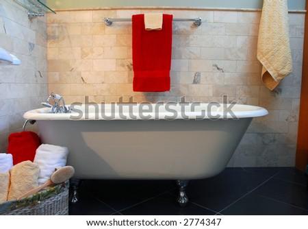 Clawfoot Tub Bathroom Spa Setting Stock Photo (Royalty Free) 2774347 ...