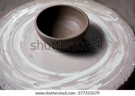 clay bowl mould - stock photo