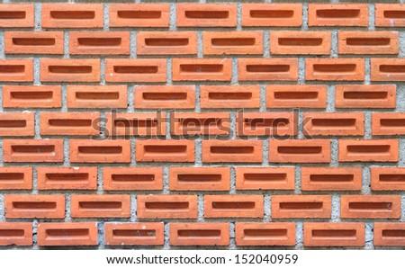 Clay brick wall - stock photo