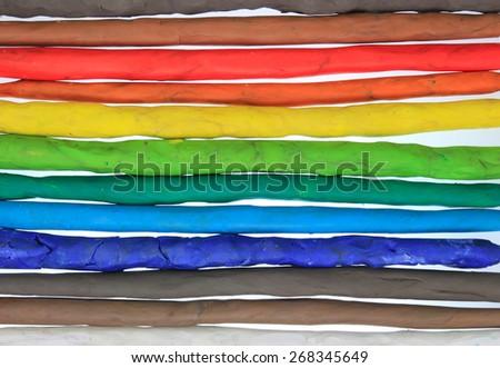 clay colorful horizontal bars background - stock photo