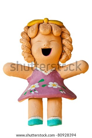 Clay dolls used in home decoration