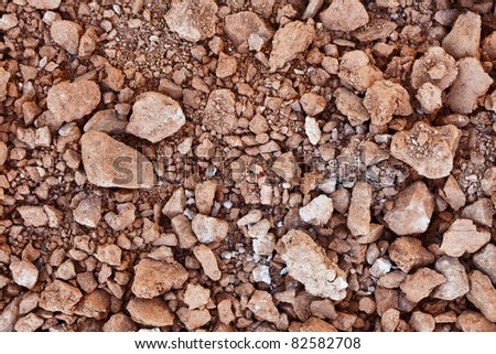 Clay in the form of lumps - the material of the pottery industry - stock photo