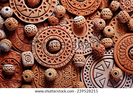 Clay Jewelry; Ethnic Jewelry made of clay