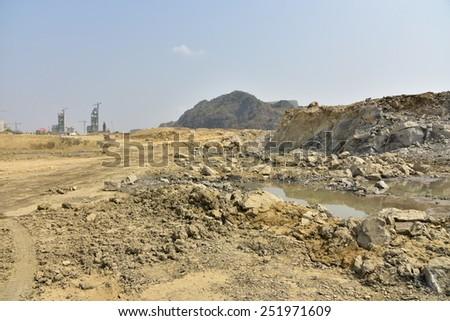 Clay mining, Cambodia. - stock photo