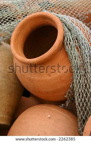 Clay pots - stock photo