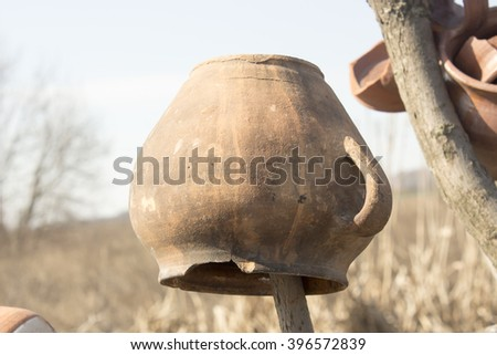 Clay pots and jugs
