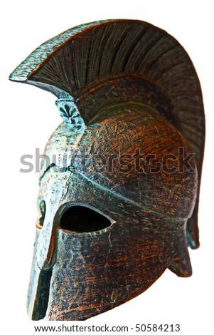 Clay Spartan helmet - stock photo