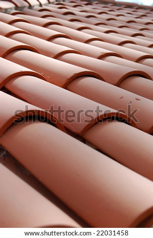 Clay Tile Roof - stock photo