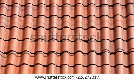 Clay Tile Roof Background - stock photo