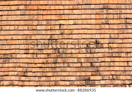 Clay tiles. For roofing, building a house in the past in Thailand - stock photo