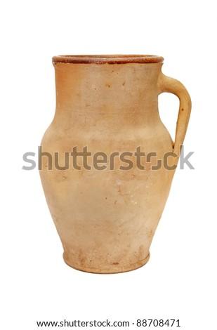 Clay vase - stock photo