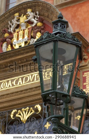 Cld lamp, Prague, Czech Republic - stock photo