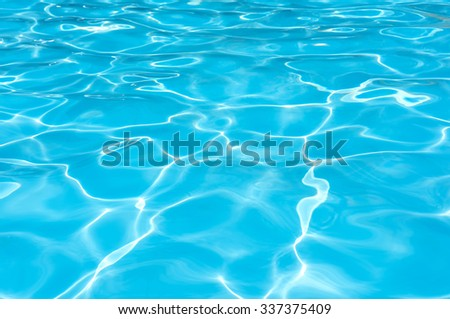 Clean and bright water surface in swimming pool