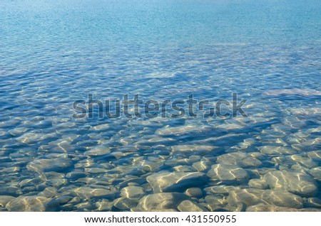 Clean and clear water in Lake Tekapo in New Zealand - stock photo
