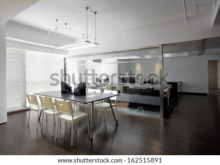 Clean and elegant office environment - stock photo