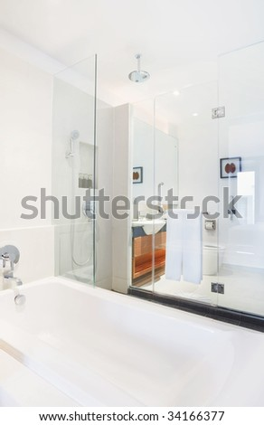 clean bathroom - stock photo