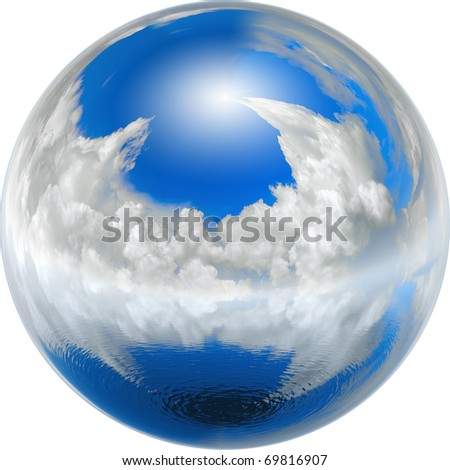 clean blue earth, ecology concept - stock photo