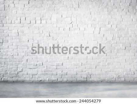 Clean Cement Built Structure White Background Copy Space - stock photo