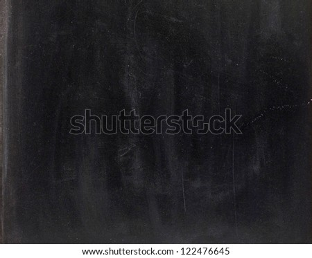 Clean chalk board  on white background - stock photo
