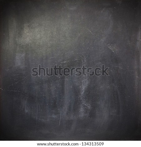 Clean chalk board with blank space - stock photo