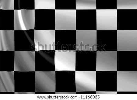 Clean checkered background with soft folds - stock photo