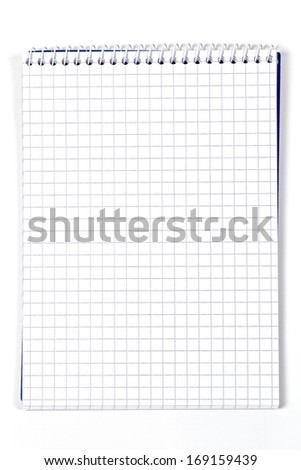 Clean checkered notebook