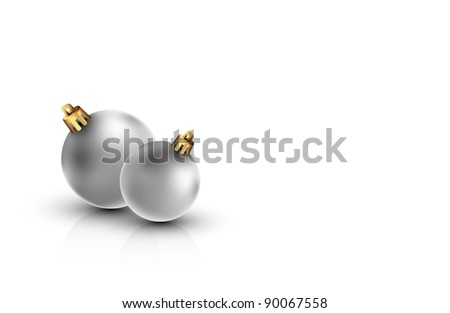 Clean Christmas Background with Silver Orbs and Large Space for Text