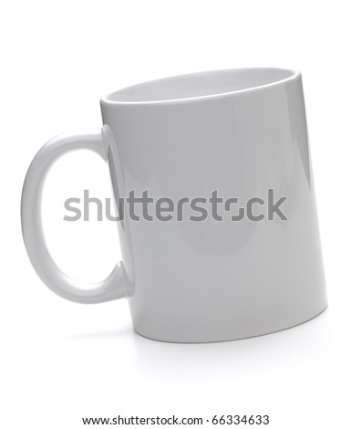 Clean coffee cup. Isolated on white background - stock photo