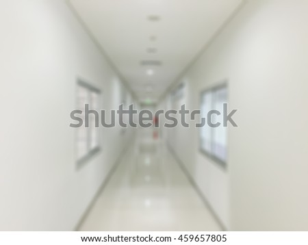 Clean corridor is blurry style,Image is arts style.