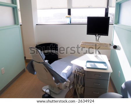 Clean dental area for examination