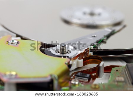 Clean disk  - stock photo