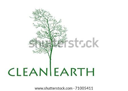 clean earth tree - stock photo