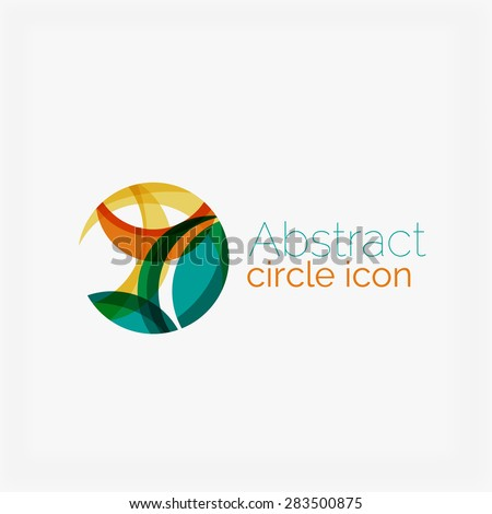 Clean elegant circle shaped abstract geometric logo. Universal for any idea.  - stock photo