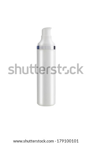 clean empty bottle for ?osmetic cream or medicines - stock photo