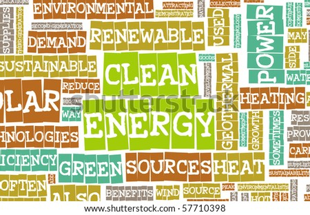Clean Energy Concept Education as a Art Abstract - stock photo