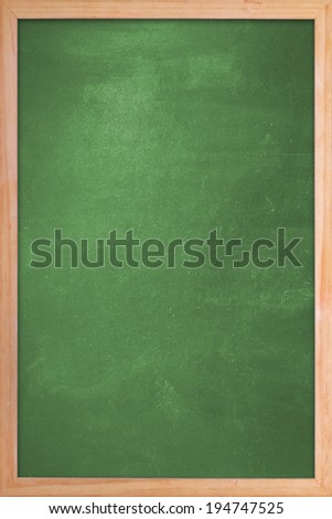 Clean green blank chalk board frame - stock photo
