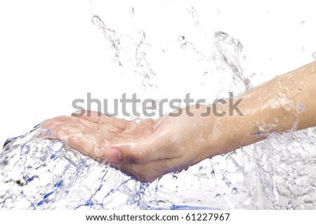 clean hands - stock photo